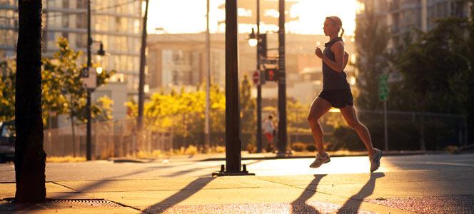 Running in the morning